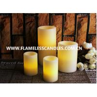 China Wavy Edge Unscented Flameless Flickering LED Wax Pillar Candles Wind Proof on sale