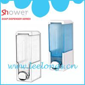 China Leelongs transparent ABS Square Manual Liquid Soap Dispenser on sale