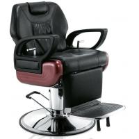 Quality Antique Man Salon Barber Chair Furniture Comfortable With Round Base , OEM Service for sale