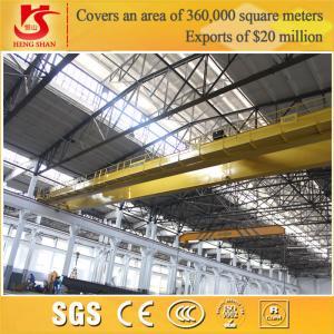 Quality Rail mounted double girder overhead lifting euro crane 50 ton crane for sale