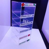 China Customized 5 tiers cell phone accessory acrylic cable display stand on sale