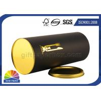 Best Gold Stamping Logo Black Paper Packaging Tube With Metal Plug Personalised wholesale