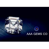 OEM Colorless Asscher Cut Moissanite 10mm Hardness 9.2 To 9.5
