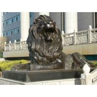 Quality Large Outdoor sitting lions bronze sculpture ,customized bronze statues, China sculpture supplier for sale
