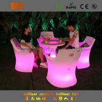 Best Outdoor glow high bar stool chang 16 colors with LED lighting wholesale