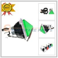Quality Triangle Illuminated Electroplating white Push Button(green),Cap Dia:38*38*38mm for sale