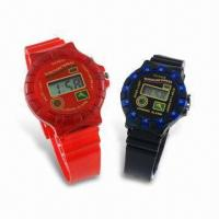 Quality Multi-functional LCD Plastic Watch, Available in Standard and Kid's Size for sale