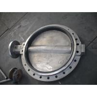 Quality Large Double Flanged Butterfly Valve / Water Butterfly Control Valve for sale