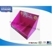 China Point Of Sale Cardboard Display Trays With 3 Cells For Girl Accessories , Toys Counter Display on sale