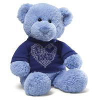 Quality Promtional gift stuffed teddy bear oem teddy bear with blue T-shirt for sale