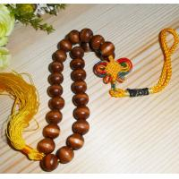 Quality wood beaded tag wood gift tag beads hanging decoration for sale