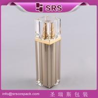 Quality SRS China Cosmetic Airless container Manufacturer empty square shape acrylic lotion bottle for sale
