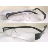 China Black Arms Slim Lens Rimless Reading Glasses With UV400 Protection on sale