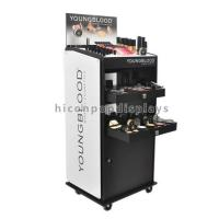 Quality Custom Floor Standing Cosmetic Display Stand Movable For Point Of Sale Retail for sale
