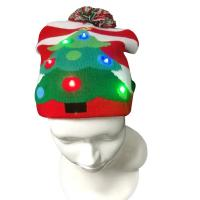 Buy Girls Promotional Products Caps / Knitted Beanie Christmas Hats LED Lighted at wholesale prices
