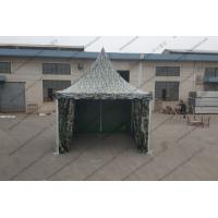 Quality 3x3M Aluminum Camouflage Military Army Tent With Transparent PVC Windows for sale