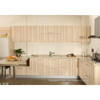 Quality Light Oak Complete Kitchen Cabinet Set Melamine Face Chipboard Optional Color for sale