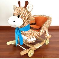 Quality New Plush Rocking Giraffe Animal Toys With Music For Children Riding On for sale