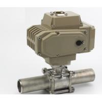 Buy cheap Fully Welded Electric Actuator Water Valve 3PC Female Threaded Stainless Steel from wholesalers