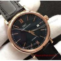 Quality IWC Schaffhausen Portofino Watch Rose Gold Black Dial 40mm for sale