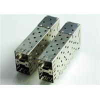 Quality 76090-5001 CONN CAGE SFP+ 2X1 W/LIGHT PIPE THT, R/A, Board Guide, EMI Shielded for sale