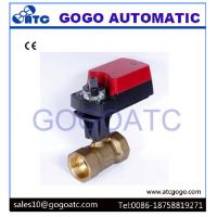 Quality 3 Way L Flow Electric Proportional Ball Valve With Manual Override ADC24V CR02 3 wires for sale