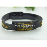 Quality FREE SAMPLE Debossed color filled rubber wrist bands cheap bracelet custom silicone for sale