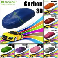 Quality 3D Carbon Fiber Vinyl Wrapping Film bubble free 1.52*30m/roll - Blue for sale