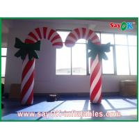 China Custom Durable Advertising Inflatable Candy Cane For Christmas Holiday on sale