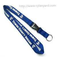Best Cheap simple logo neck lanyard with key ring, polyester key holder lanyards discount price wholesale