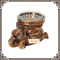 Quality creative resin animal antique elephant ashtray New Type poly resin ashtray DA0339GE for sale