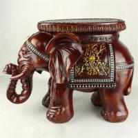 Best Big Size Resin Elephant Stool Resin Elephant Crafts Home Decoration New Year Gift  (XH010) wholesale