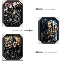 Quality 3 Different Images Of Grim Ripper  Lenticular Flip With 30x40cm For House Decoration for sale