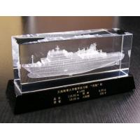 Quality Fine quality 3D laser engraving crystal business gift for sale
