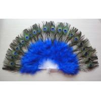 China HandeMade Peacock feather fans for belly dance accessories for adult on sale