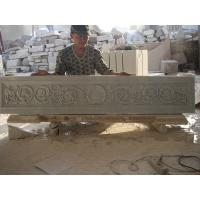 Quality white marble carved panel for indoor for sale