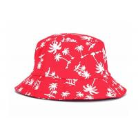 Quality Summer Custom Printed Bucket Hats , Adult Causal Unisex Flat Hat Outdoor for sale