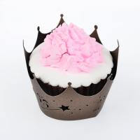 Eco Friendly Unique Design Paper Cupcake Wrappers Oval Shaped Wedding Decoration
