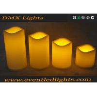 Quality Moving Wick Flickering Led Candles , Yellow / White Led Votive Candles for sale