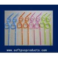 Quality Promotional Soft PVC Products Drinking Straw Holder with Customized Design and Color for sale