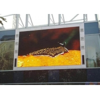 Quality Full Color SMD3535 Outdoor Fixed Led Display With Waterproof Steel Cabinet for sale