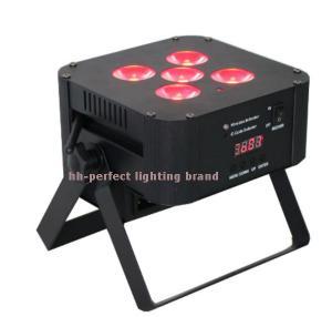 Quality 2016 new style 5pcs LED Par RGBWA UV digital wireless battery par  led stage lighting for sale