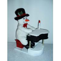 Best 11Inch Musical Snowman Playing the Piano Toddler Electronic Toys for Christmas Decor wholesale