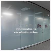 Quality China 10mm Clear/Frosted/Etched/Sandblast/Printed Glass room dividers for sale