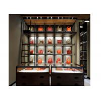 China 5 Layer Fashion Style Wall Mounted Display Cabinetsspace Saving For Bags Display on sale