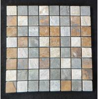 China In door mosaic slate stone tile home depot on sale