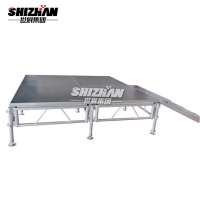 Quality Aluminum Alloy Wedding Event Modular Stage Platforms 1x2m for sale