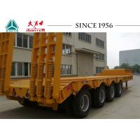 China Heavy Duty 40FT Low Bed Trailer 150 Tons Big Payloads For Carrying Containers on sale
