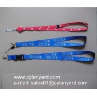 Quality Sublimation transfer print lanyard with plastic breakaway buckle for sale
