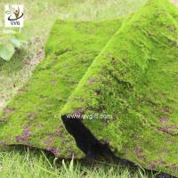 Best UVG landscape decor accessories flocking artificial moss carpet garden synthetic grass mat for indoors use GRS041 wholesale